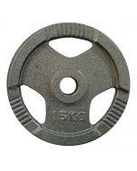 Disco Pesi Ghisa 15 Kg  foro 50 mm 3 maniglie